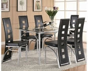 Coaster Los Feliz Metal Set w/ Black Chairs CO-101681B-Set
