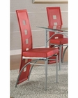 Coaster Los Feliz Red Contemporary Dining Chair CO-101683 (Set of 2)