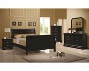 Coaster Louis Philippe Bedroom Set in Black CO-203961Set