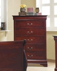 Coaster Louis Philippe Chest in Cherry CO-203975