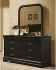 Coaster Louis Philippe Dresser w/ Mirror in Black CO-203963-64