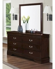 Coaster Louis Philippe Dresser w/ Mirror in Cappuccino CO-202413-14