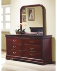 Coaster Louis Philippe Dresser w/ Mirror in Cherry CO-203973-74