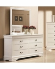 Coaster Louis Philippe Dresser w/ Mirror in White CO-204693-94