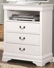 Coaster Louis Philippe Media Chest in White CO-204696