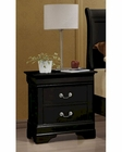 Coaster Louis Philippe Nightstand in Black CO-203962