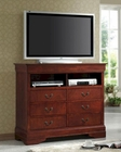 Coaster Louis Philippe Media Chest in Cherry CO-200436
