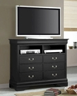 Coaster Louis Philippe Media Chest in Black CO-201076