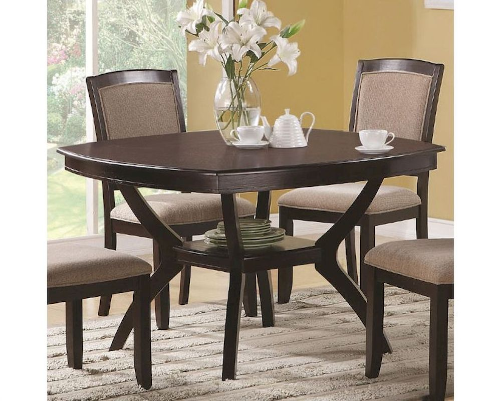 Coaster Memphis Rounded Square Dining Table CO 102755 For Modern Square  Dining Table For 4