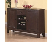 *Coaster Memphis Server w/ Wine Rack CO-102765