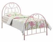 Coaster Metal Bed w/ Pink Heart Motifs Juliette CO-400571T