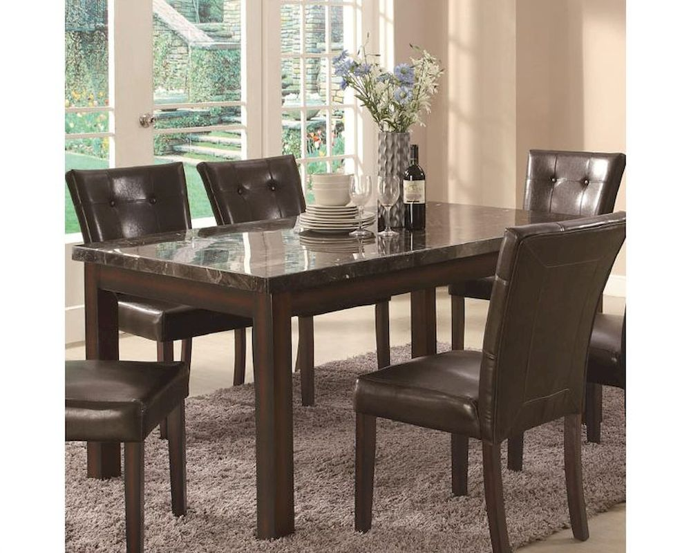 Coaster Milton Dining Leg Table W Marble Top Co 103770