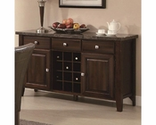 Coaster Milton Serving Table w/ Marble Top CO-103784