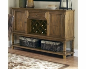 Coaster Parkins Server w/ Wine Rack and Shelf CO-103715