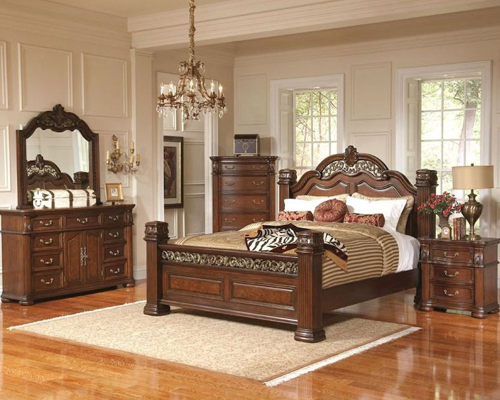 Bedroom Sets With Posts coaster pillar posts bedroom set dubarry co201821set