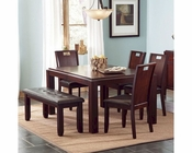Coaster Prewitt Contemporary Dining Set w/ Bench CO-102941Set