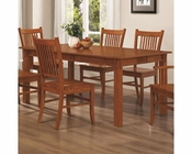 Coaster Rectangular Leg Dining Table Marbrisa in Brown CO-100621