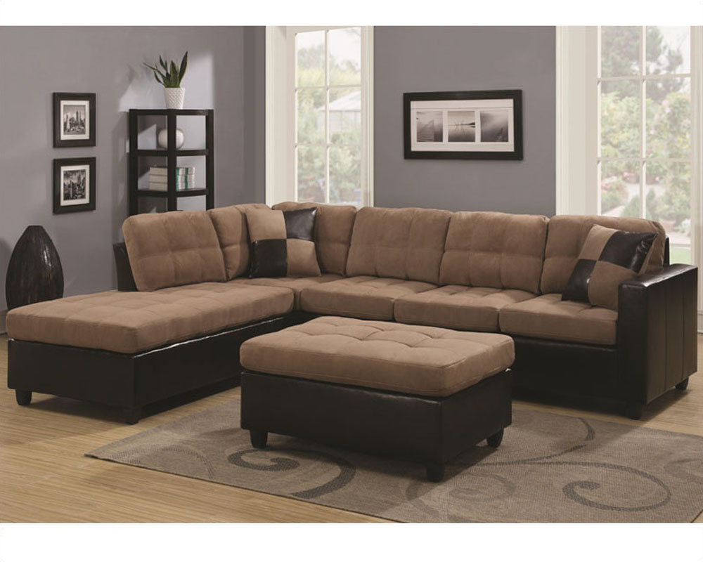 Marvelous Coaster Reversible Sectional Sofa Mallory Co 5056Set Lss Machost Co Dining Chair Design Ideas Machostcouk