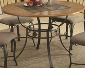 Coaster Round Dining Table w/ Metal Legs and Wood Top CO-120771