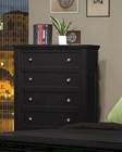 Coaster Sandy Beach 5 Drawer Chest in Black CO-201325