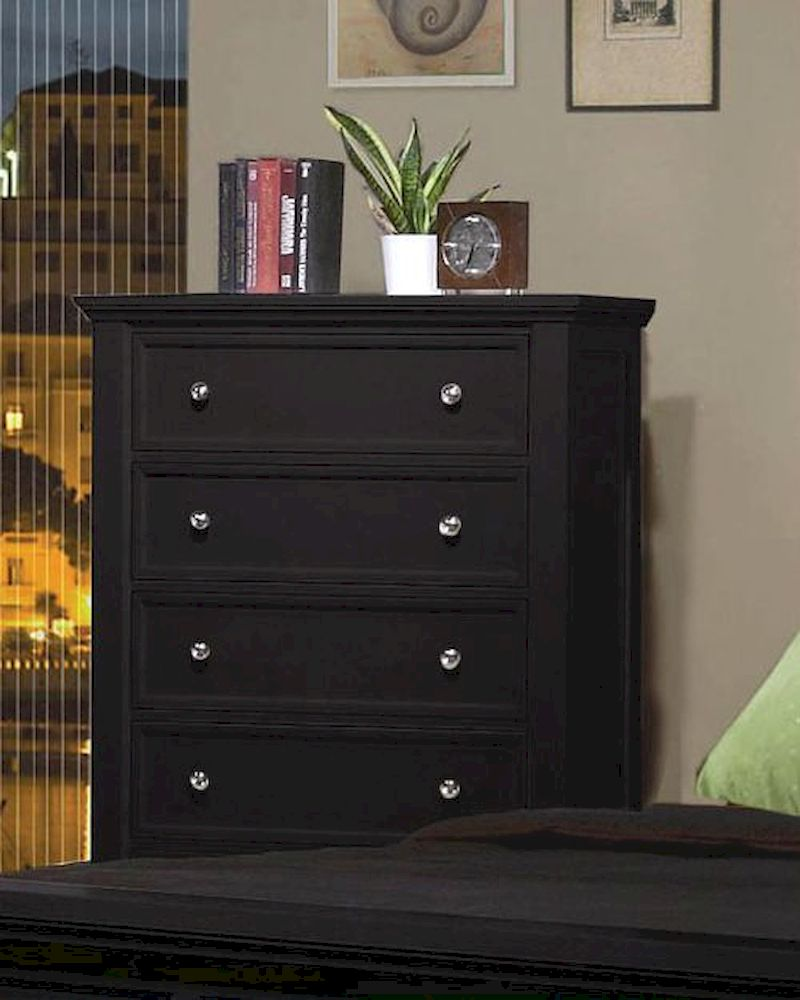 Coaster Sandy Beach 5 Drawer Chest in Black CO201325