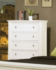 Coaster Sandy Beach 5 Drawer Chest in White CO-201305