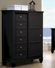 Coaster Sandy Beach 8 Drawer Chest in Black CO-201327