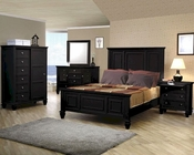 Coaster Sandy Beach Bedroom Set in Black CO-201321-Set