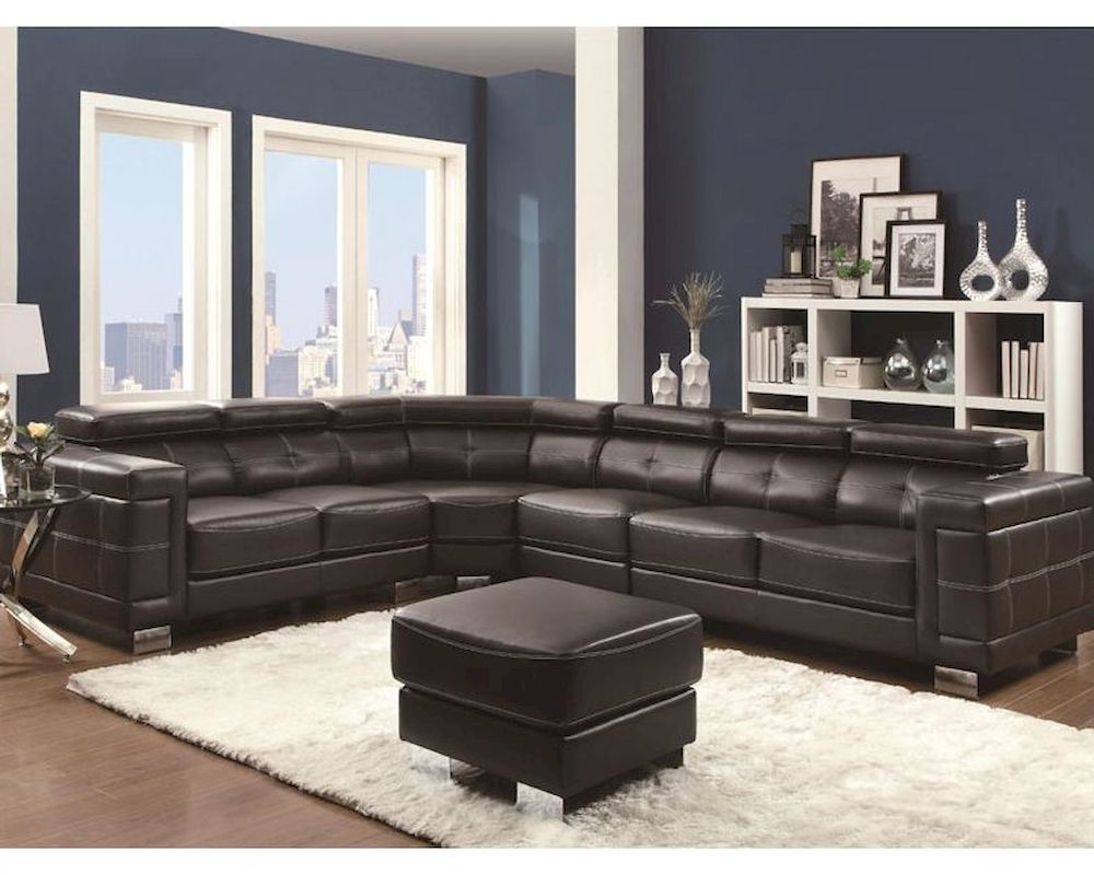 Pleasing Coaster Sectional Sofa W Adjustable Headrests Ralston Co 503625 Machost Co Dining Chair Design Ideas Machostcouk