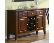Coaster Server w/ Wine Rack Rodeo CO-102245