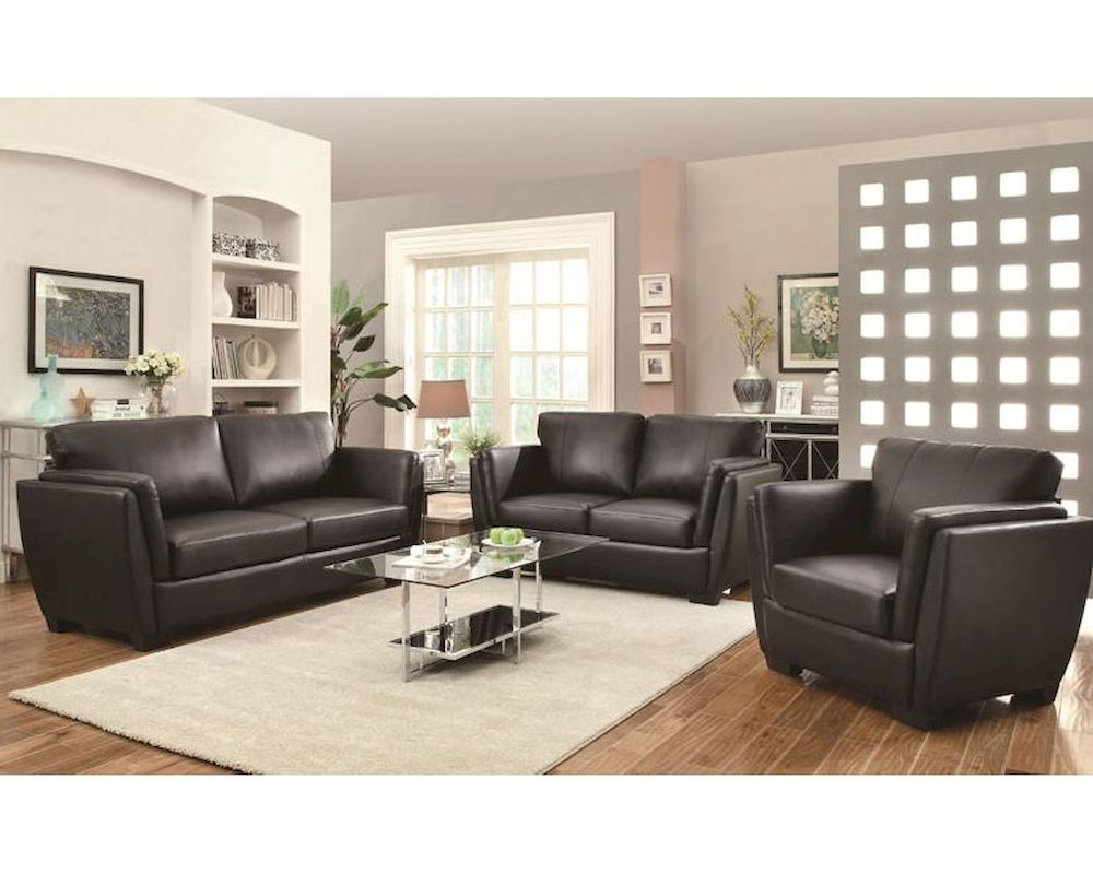 Coaster sofa set w contemporary style lois co 5036set lss for Modern style furniture stores