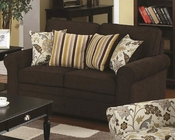 Coaster Stationary Love Seat w/ Accent Pillows Rosalie CO-504242