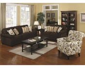 Coaster Stationary Sofa Set w/ Accent Pillows Rosalie CO-504241Set