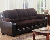 Coaster Stationary Sofa w/ Wood Feet Monika CO-502811