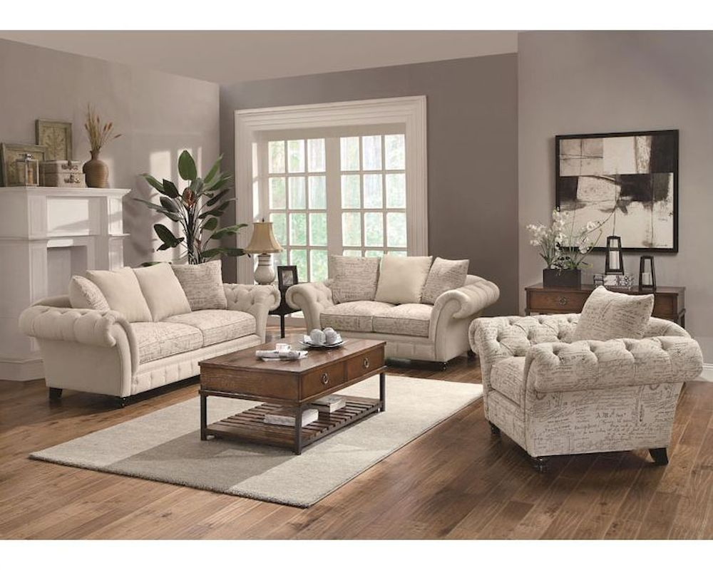 Coaster Traditional French Style Sofa Set Willow Co 503761set