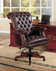 Coaster Traditional Office Chair in Burgundy CO-800142