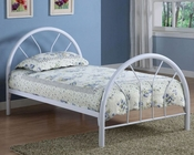 Coaster Twin Metal Bed Fordham in White CO-2389W