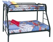 Coaster Twin Over Full Bed w/ Side Ladders Fordham in Black CO-2258K