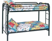 Coaster Twin Over Twin Bunk Bed Fordham in Black CO-2256K