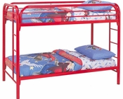Coaster Twin Over Twin Bunk Bed Fordham in Red CO-2256R