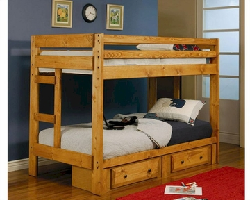 Coaster Twin Twin Bunk Bed W Under Dresser Wrangle Hill