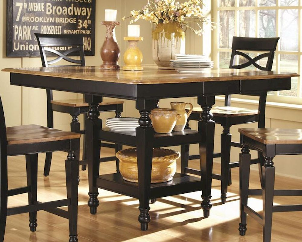 Fine Coaster Two Tone Counter Height Table Ashley Co 104038 Short Links Chair Design For Home Short Linksinfo