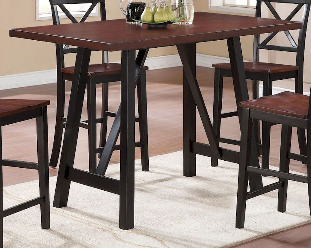 Coaster Two Tone Counter Height Table W Angled Legs