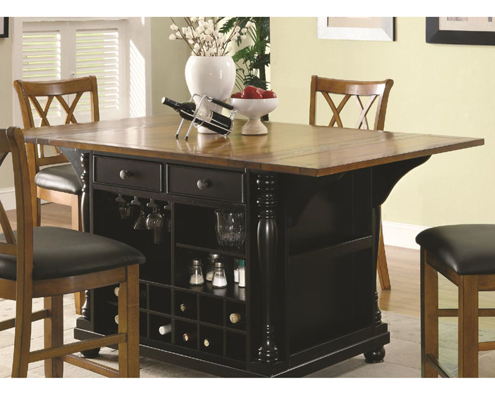 amusing kitchen island counter | Coaster Two-Tone Kitchen Island Kitchen CArts CO-102270-71