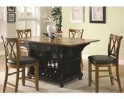 Coaster Two-Tone Kitchen Island Set Kitchen CArts CO-102270-71Set