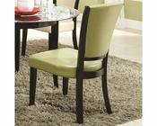 Coaster Upholstered Side Chair in Green CO-103682GRN (Set of 2)