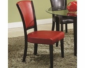 *Coaster Side Chair in Red CO-103682RED (Set of 2)