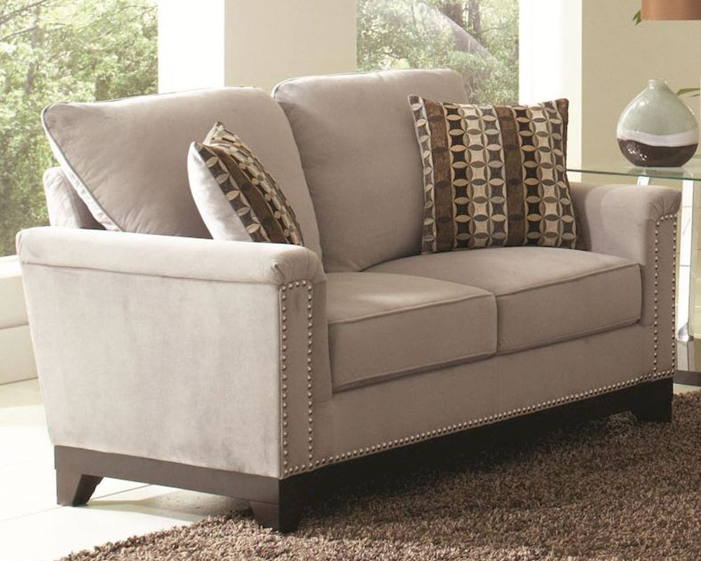 Coaster Velvet Love Seat W Nailhead Trim Mason Co 5036 Ls