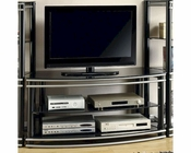 Coaster Wall Units Black & Silver Finish Curved TV stand CO-700722