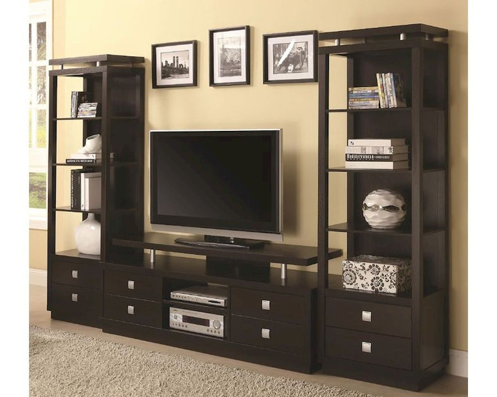 Tv And Media Wall Units: Coaster Wall Units TV Console & Media Towers CO-700696Set